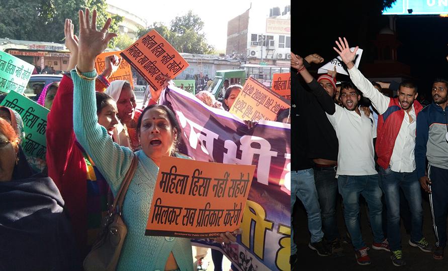 protest against gang rape erupts in Jaipur
