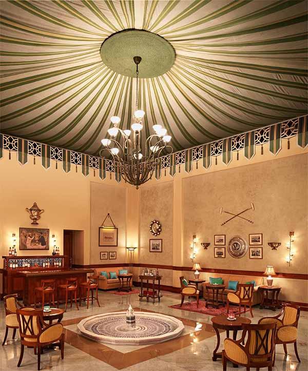 Polo Bar at Rambagh Palace.