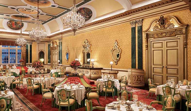 Suvarna Mahal in Rambagh Palace.