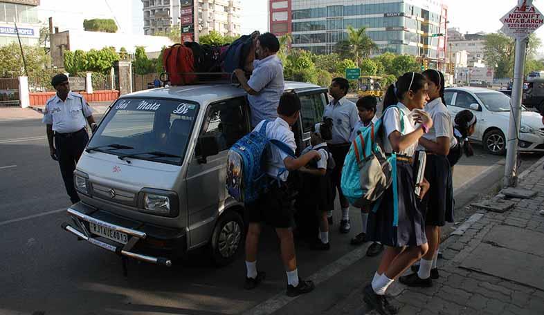 traffic drive outside schools - 1