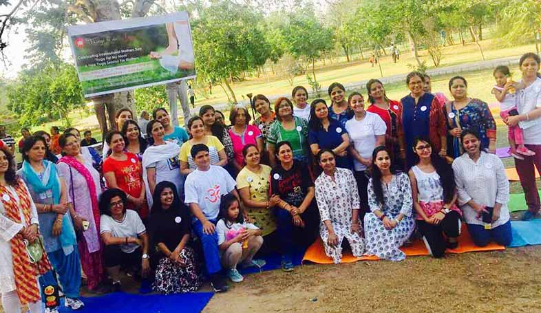 yoga on mothers day jaipur