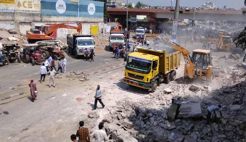 gopalpura bypass JDA anti-encroachment drive