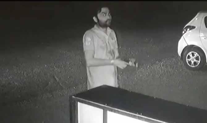 Vishal Choudhary firing outside hotel