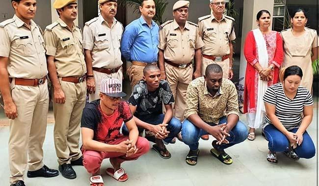 nigerian gang arrest jaipur