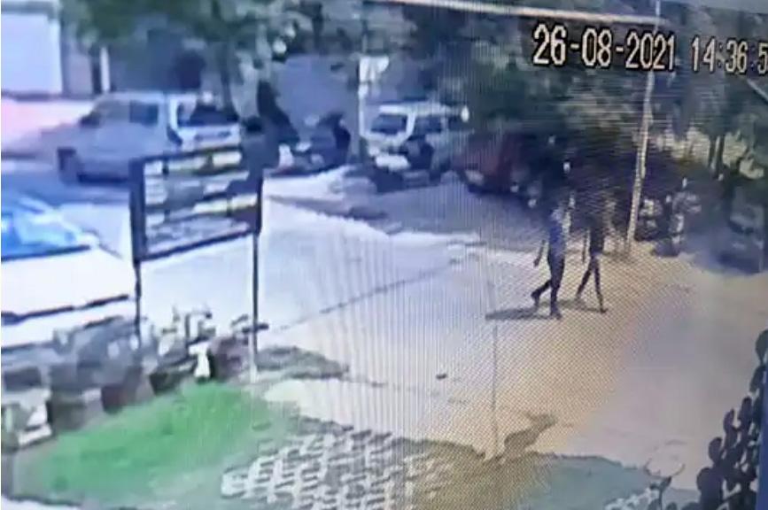 vaishali nagar murder shooters in cctv