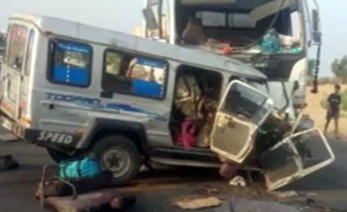 vehicles after accident nagaur
